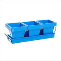 Gaden Planter Set Of 3 With Tray Light Blue Color