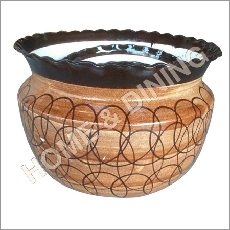 Ceramic Planter Set Of 3 Brown