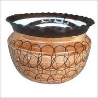 Ceramic Planter Set Of 3 Brown