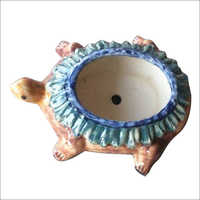 10 Inch Ceramic Tortoise Pot