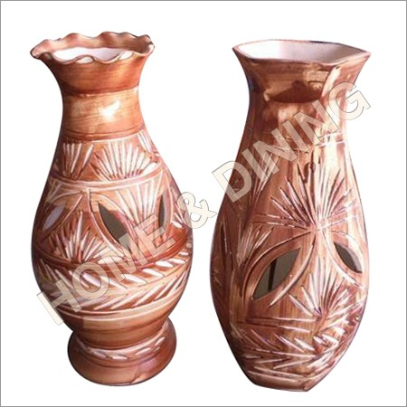 12 Inch Ceramic Vase Perforated