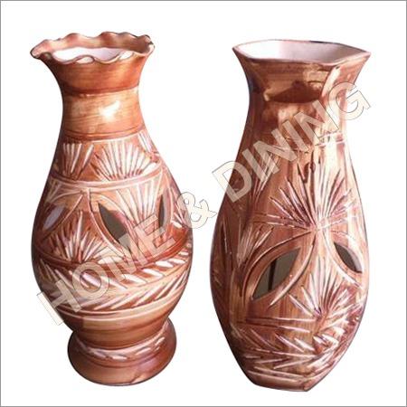 12 Inch Ceramic Vase Perforated