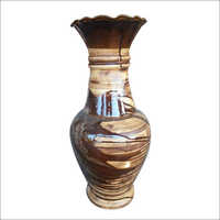 20 Inch Ceramic Vase Coffee Color