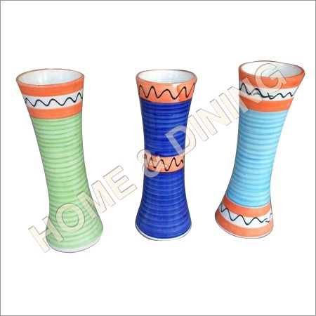 Set Of 3 12 Inch Ceramic Vase