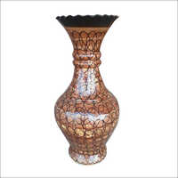 Swirl Dan Brown Color Ceramic Vase