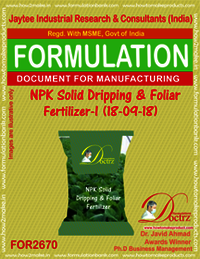 NPK Solid Dripping & Foliar Fertilizer-I (18-09-18)