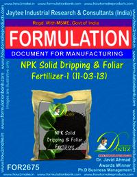 NPK Solid Dripping & Foliar Fertilizer-I (11-03-13)