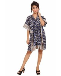 Cotton Printed Kaftan Short Sleeve