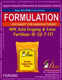 NPK Solid Dripping & Foliage Fertilizer-III (12-7-17)