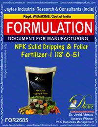 NPK Solid Dripping & Foliage Fertilizer-I (18-6-5)