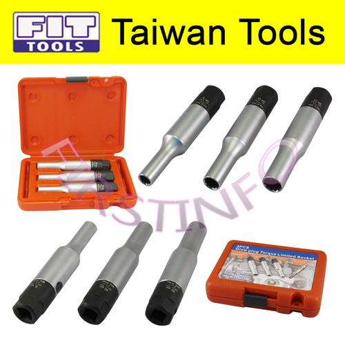 FIT TOOLS 3 PCS 8, 10, 12 mm Glow Plug Torque Limited Socket Kit