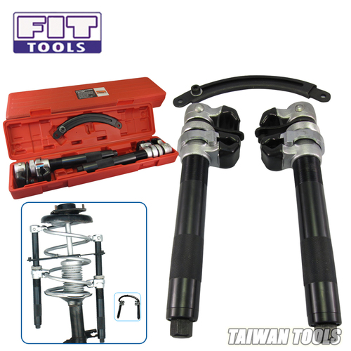 FIT TOOLS Heavy Duty 280mm Hook Coil Spring Compressor with Jaws and U Holder