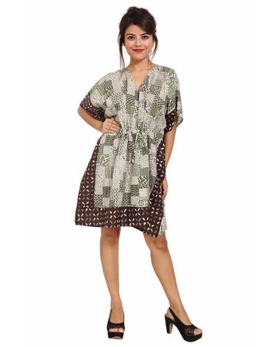 Cotton Printed Kaftan Short Sleeve