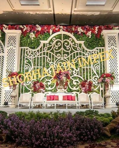 The Garden Theme Wedding Stage