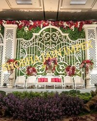The Garden Theme Wedding Stage