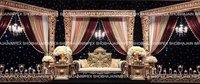 Traditional Gold Wedding Stage
