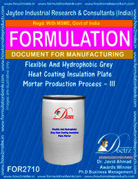 Flexible And Hydrophobic Grey Heat Coating Insulation Plate Mortar Production Process – III