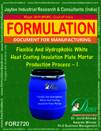 Flexible & Hydrophobic White Heat Coating Insulation Plate Mortar