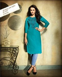 Buy Kessi Kajree Kurti Rayon Embroidered