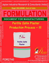 Perlite Satin Plaster Production Process – III