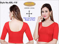 Ladies 4Way Lycra Elbow Plain Blouse