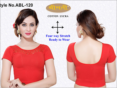 Ladies 4Way Lycra With Lace Blouse