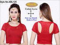 Ladies 4 Way Lycra T-Back Blouse Short Sleeve