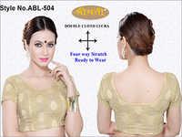 Ladies Double Cloth Lycra Short Sleeve Blouse