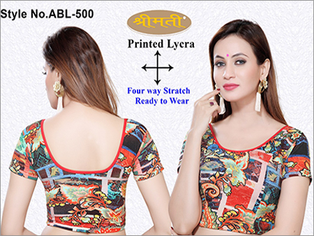 Ladies Printed Fabric Short Sleeve
