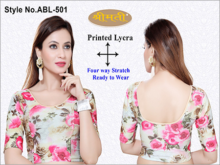 Ladies Printed Fabric Blouse