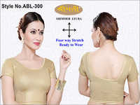 Ladies Shimmer Lycra Plain Blouse