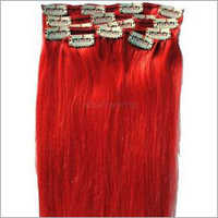 Red Human Hair Extension