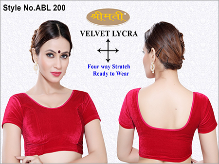 Ladies Velvet Lycra Plain Blouse