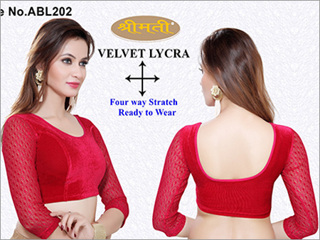 Ladies Velvet Blouse