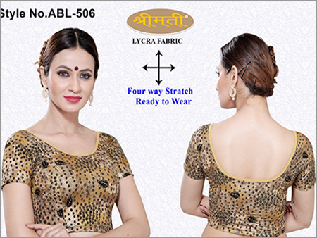 Ladies Printed Emboss Fabric Blouse