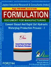 Cement Based & Rapid Set Hydraulic Waterplug