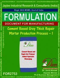 Cement based Grey Thick Repair Mortar-I