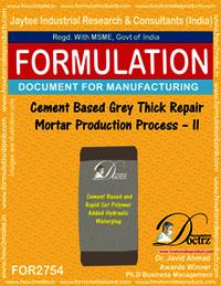 Cement based Grey Thick Repair Mortar-II