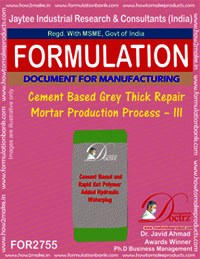Cement based Grey Thick Repair Mortar-III