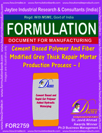 Cement Based Polymer & Fiber Modified Grey Thick Repair Mortar – I
