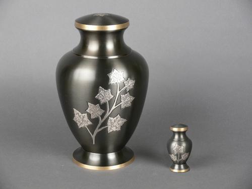 Classic Leaf Metal Cremation Urn