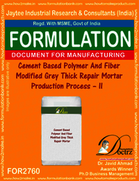 Cement Based Polymer & Fiber Modified Grey Thick Repair Mortar – III