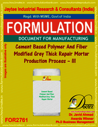 Cement Based Polymer & Fiber Modified Grey Thick Repair Mortar – II