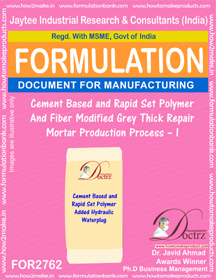 Construction Chemical Production Formulations