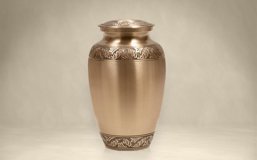 Leaves Bronze Classic Cremation Urn