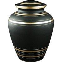Classic Black Metal Cremation Urn