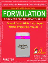 Cement Based White Thick Repair Mortar-I