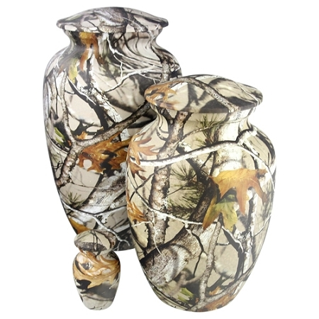 Metal Camouflage Medium Urns