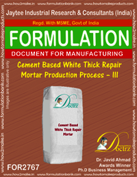 Cement Based White Thick Repair Mortar-III