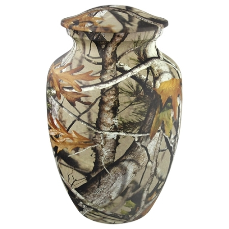 Metal Classic Camouflage Cremation Urn